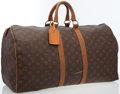 Luxury Accessories:Bags, Louis Vuitton Classic Monogram Canvas Keepall 55 Weekender Bag. ...
