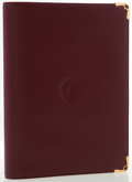 "Luxury Accessories:Accessories, Cartier Burgundy Leather Address Book Cover. Excellent toPristine Condition . 7.5"" Width x 10"" Length x 1"" Depth...."