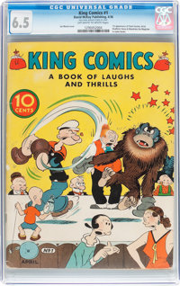 King Comics #1 (David McKay Publications, 1936) CGC FN+ 6.5 Off-white to white pages