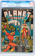 Golden Age (1938-1955):Science Fiction, Planet Comics #10 (Fiction House, 1941) CGC FN/VF 7.0 Off-whitepages....