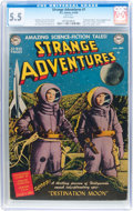 Golden Age (1938-1955):Science Fiction, Strange Adventures #1 (DC, 1950) CGC FN- 5.5 White pages....