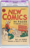 Platinum Age (1897-1937):Miscellaneous, New Comics #2 Trimmed (DC, 1936) CGC Apparent FN+ 6.5 Slight (C-1)Off-white to white pages....