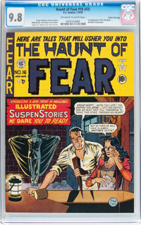 Haunt of Fear #16 (#2) Gaines File pedigree (EC, 1950) CGC NM/MT 9.8 Off-white to white pages