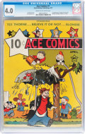 Platinum Age (1897-1937):Miscellaneous, Ace Comics #1 (David McKay Publications, 1937) CGC VG 4.0 Cream tooff-white pages....