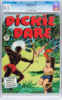 Dickie Dare #1 (Eastern Color, 1941) CGC VF+ 8.5 Off-white to white pages