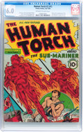Golden Age (1938-1955):Superhero, The Human Torch #2 (#1) (Timely, 1940) CGC FN 6.0 Off-white to white pages....