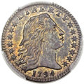 Early Half Dimes, 1794 H10C V-2, LM-2, R.5, MS62 PCGS....