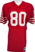 Football Collectibles:Uniforms, 1985-88 Jerry Rice Game Worn San Francisco 49ers Jersey, MEARS A10....
