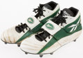 Football Collectibles:Others, Mid 1990's Jeff Thomason Game Worn Green Bay Packers Cleats....