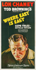 "Movie Posters:Adventure, Where East is East (MGM, 1929). Three Sheet (41"" X 81"").. ..."