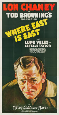 "Where East is East (MGM, 1929). Three Sheet (41"" X 81"")"