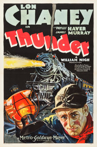 "Thunder (MGM, 1929). One Sheet (27"" X 41"")"