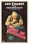 "Movie Posters:Mystery, West of Zanzibar (MGM, 1928). One Sheet (27"" X 41"").. ..."