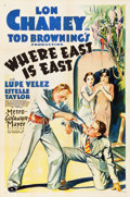 "Movie Posters:Adventure, Where East is East (MGM, 1929). One Sheet (27"" X 41"").. ..."