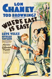 "Where East is East (MGM, 1929). One Sheet (27"" X 41"")"