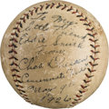 Autographs:Baseballs, 1926 Chuck Dressen Single Signed Baseball....