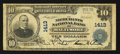 National Bank Notes:Maryland, Baltimore, MD - $10 1902 Plain Back Fr. 632 The Merchants NB Ch. #1413. ...