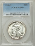 Walking Liberty Half Dollars: , 1940-S 50C MS66+ PCGS. PCGS Population: (483/12 and 110/3+). NGC Census: (153/15 and 2/0+). CDN: $550 Whsle. Bid for NGC/PC...