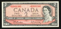 Canadian Currency: , BC-38bA $2 1954 Replacement. ...
