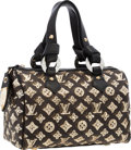 "Luxury Accessories:Bags, Louis Vuitton Limited Edition Sequin & Classic Monogram CanvasEclipse Speedy Bag. Excellent Condition . 11"" Width x7..."