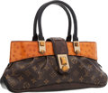 Luxury Accessories:Bags, Louis Vuitton Limited Edition Cognac Ostrich & Classic MonogramCanvas Macha Waltz Bag. Very Good to Excellent Condition ...