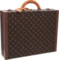 """Luxury Accessories:Travel/Trunks, Louis Vuitton Classic Monogram Canvas Alzer 45 Hardsided Briefcase. Very Good Condition . 17.5"""" Width x 13.5"""" Height..."""