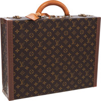"""Louis Vuitton Classic Monogram Canvas Alzer 45 Hardsided Briefcase Very Good Condition 17.5"""" Wi"""