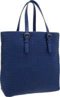 "Luxury Accessories:Bags, Bottega Veneta Blue Intrecciato Nappa Leather Tote Bag . VeryGood Condition . 17"" Width x 13"" Height x 4"" Depth . ..."