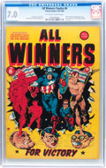 Golden Age (1938-1955):Superhero, All Winners Comics #6 (Timely, 1942) CGC FN/VF 7.0 Off-white to white pages....