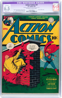 Action Comics #47 (DC, 1942) CGC Apparent FN+ 6.5 Slight (C-1) Off-white to white pages