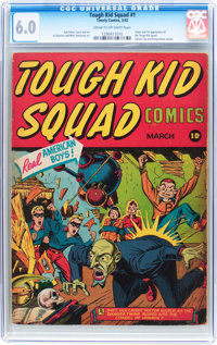 Tough Kid Squad Comics #1 (Timely, 1942) CGC FN 6.0 Cream to off-white pages