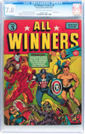 Golden Age (1938-1955):Superhero, All Winners Comics #3 (Timely, 1941) CGC FN/VF 7.0 Light tan to off-white pages....