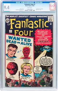 Fantastic Four #7 (Marvel, 1962) CGC NM 9.4 White pages
