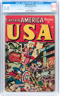 USA Comics #12 (Timely, 1944) CGC GD/VG 3.0 Cream to off-white pages