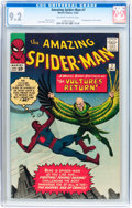 Silver Age (1956-1969):Superhero, The Amazing Spider-Man #7 (Marvel, 1963) CGC NM- 9.2 Off-white towhite pages....