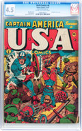 Golden Age (1938-1955):Superhero, USA Comics #6 (Timely, 1942) CGC VG+ 4.5 Cream to off-white pages....