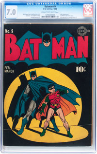 Batman #9 (DC, 1942) CGC FN/VF 7.0 Cream to off-white pages
