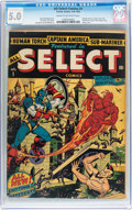 Golden Age (1938-1955):Superhero, All Select Comics #1 (Timely, 1943) CGC VG/FN 5.0 Cream to off-white pages....