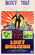 "Movie Posters:Fantasy, Lost Horizon (Columbia, 1937). Window Card (14"" X 22"").. ..."