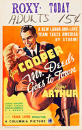 """Movie Posters:Comedy, Mr. Deeds Goes to Town (Columbia, 1936). Window Card (14"""" X 22"""")....."""