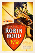 "Movie Posters:Swashbuckler, The Adventures of Robin Hood (Warner Brothers, 1938). One Sheet(27.5"" X 41"").. ..."