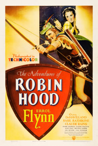 "The Adventures of Robin Hood (Warner Brothers, 1938). One Sheet (27.5"" X 41"")"