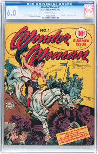 Wonder Woman #1 (DC, 1942) CGC FN 6.0 Off-white pages