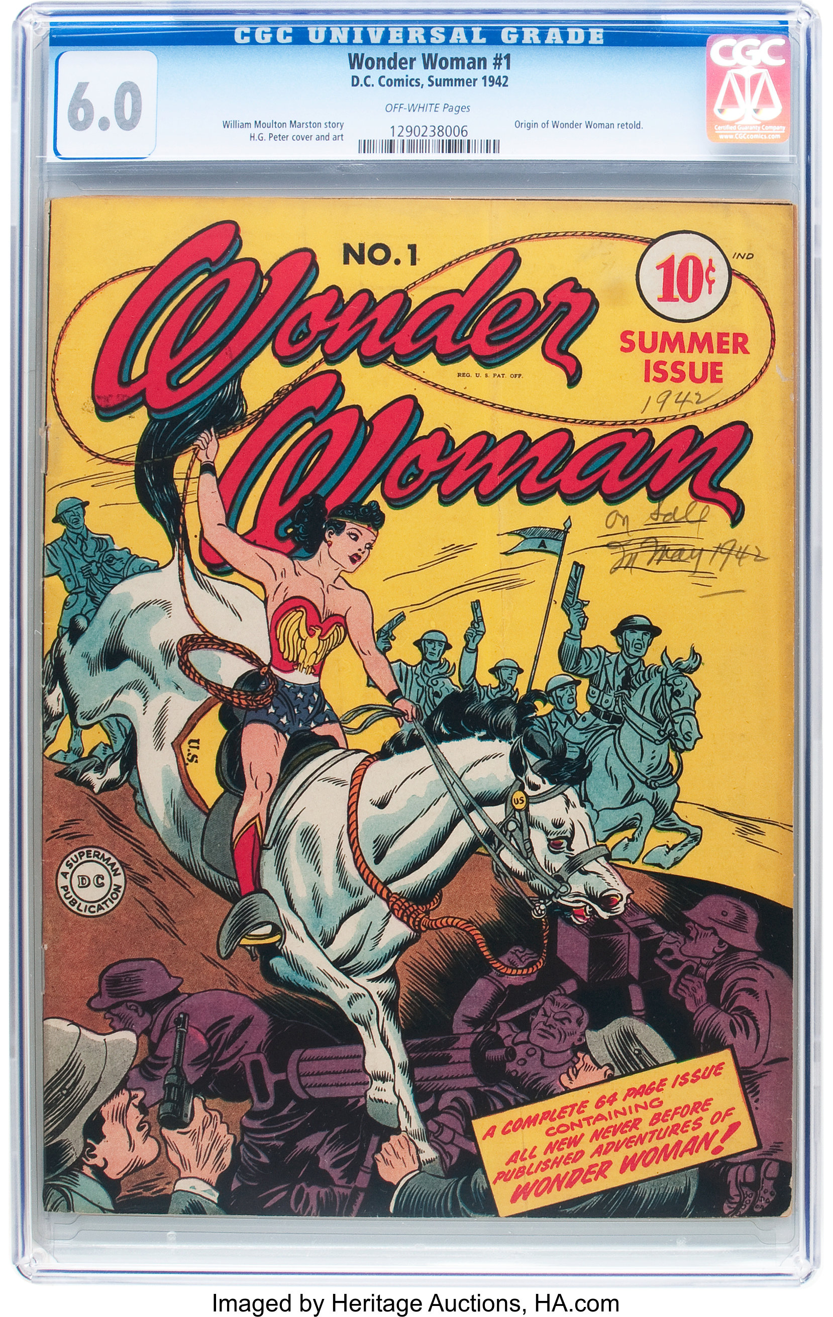 Wonder Woman #1 (DC, 1942) CGC FN 6 0 Off-white pages