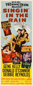 "Movie Posters:Musical, Singin' in the Rain (MGM, 1952). Insert (14"" X 36"").. ..."