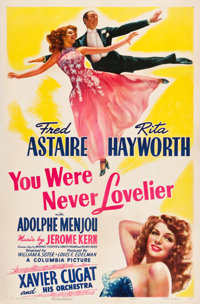 """You Were Never Lovelier (Columbia, 1942). One Sheet (27"""" X 41"""") Style A"""