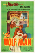 "Movie Posters:Horror, The Wolf Man (Film Classics, R-1948). One Sheet (27"" X 41"").. ..."