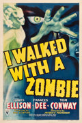 "Movie Posters:Horror, I Walked with a Zombie (RKO, 1943). One Sheet (27.25"" X 41"").. ..."