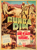"Movie Posters:Action, Gunga Din (RKO, 1939). Australian One Sheet (29"" X 39"").. ..."