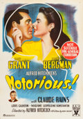 "Movie Posters:Hitchcock, Notorious (RKO, 1946). Australian One Sheet (28"" X 40"").. ..."